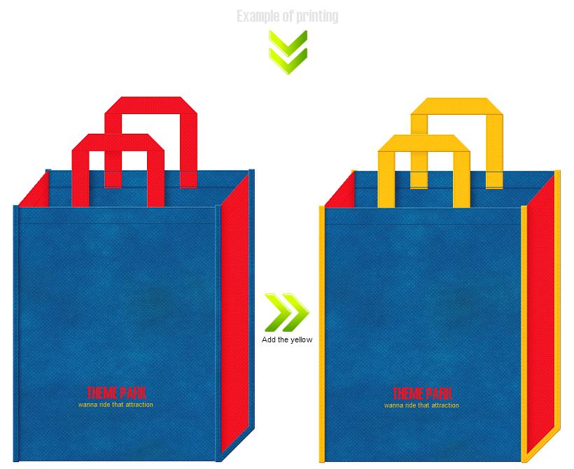 テーマパークの不織布バッグデザイン例