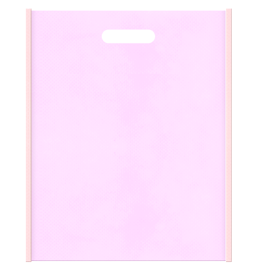 Girlyな不織布小判抜き袋のデザイン。メインカラー明るめのピンク色とサブカラー桜色