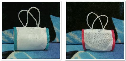不織布ドラムバッグのオリジナル制作例:バイアス巻き縫製