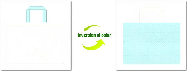 不織布No.12オフホワイトと不織布No.30水色の組み合わせ