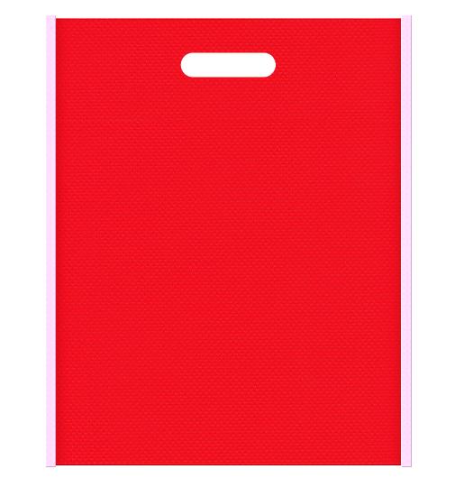 母の日ギフトにお奨めの不織布小判抜き袋デザイン。メインカラー赤色とサブカラー明るめのピンク色