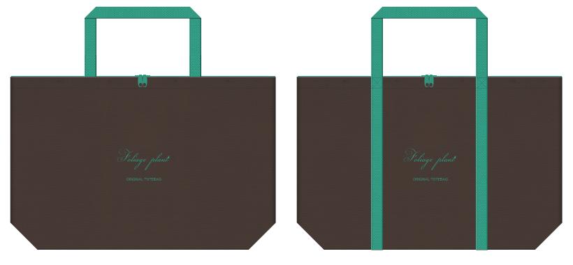 不織布バッグのデザイン:フラワーショップのショッピングバッグ