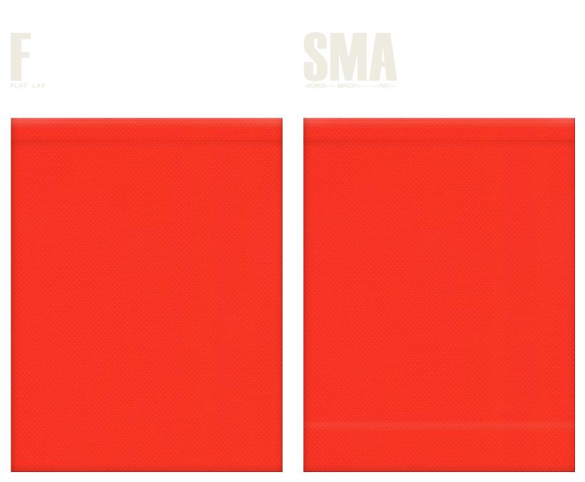 不織布巾着袋のカラーシミュレーション:オレンジ色