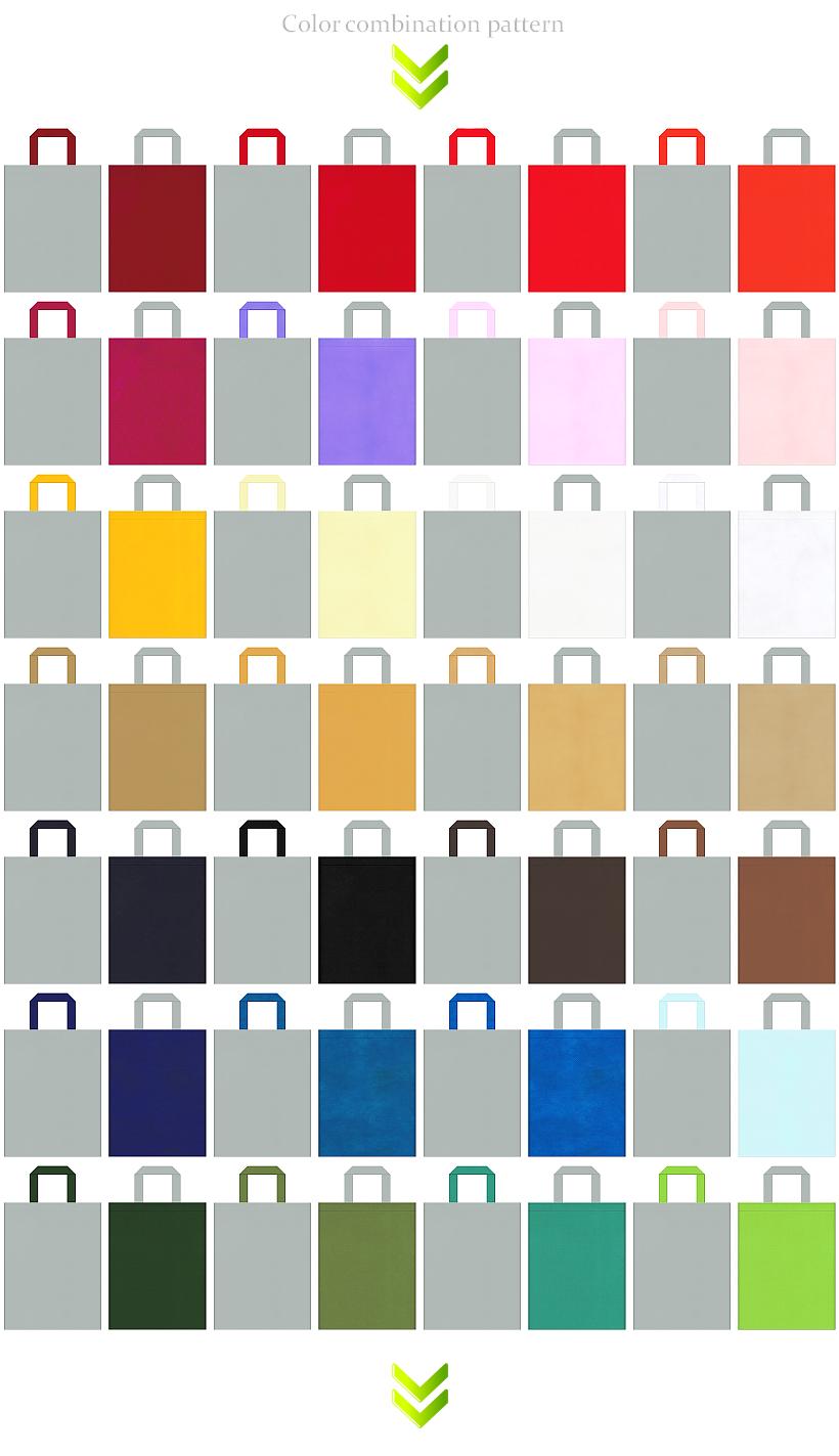 秋冬ファッション・エクステリア・ホビーのイベントにお奨めのグレー色の不織布バッグデザイン56例