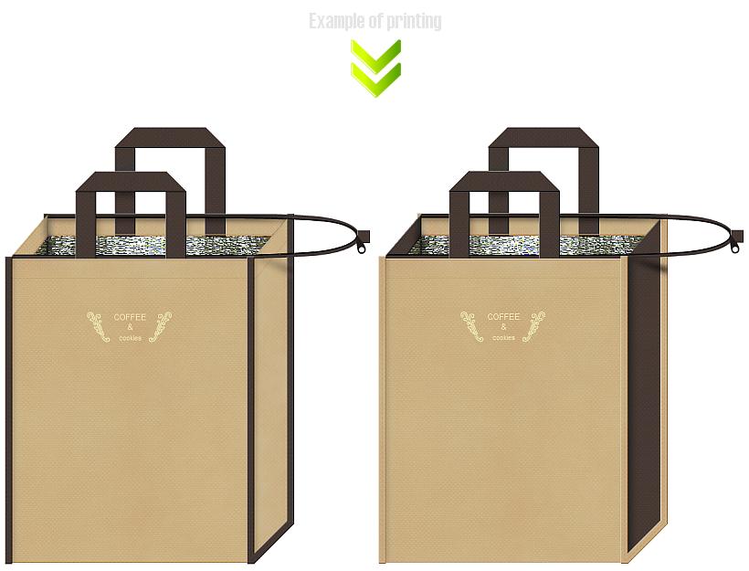 不織布バッグ保冷バッグのデザイン例