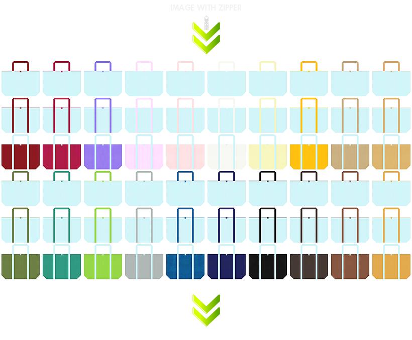 春夏・クール・パステルカラー・ガーリーデザインのショッピングバッグにお奨めのファスナー付き不織布バッグのデザイン:水色のコーデ84例