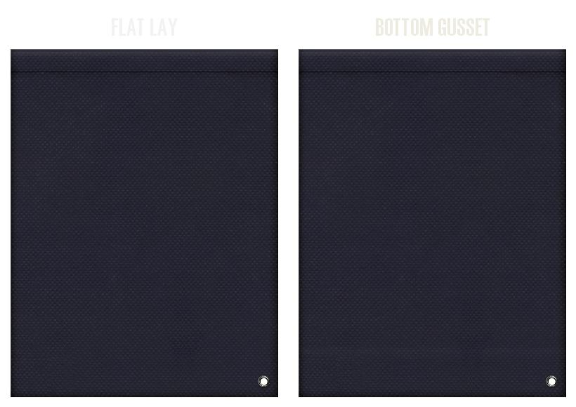 不織布ショルダーバッグのカラーシミュレーション:濃紺色