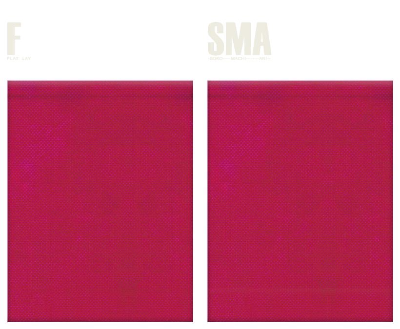 不織布巾着袋のカラーシミュレーション:濃いピンク色