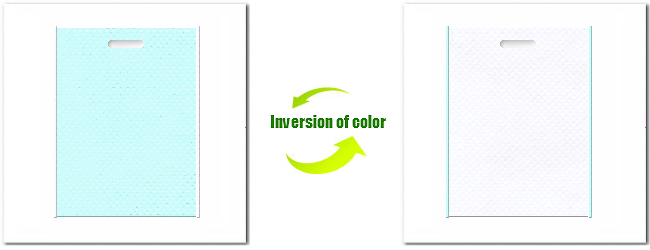 不織布小判抜き袋:No.30水色とNo.15ホワイトの組み合わせ