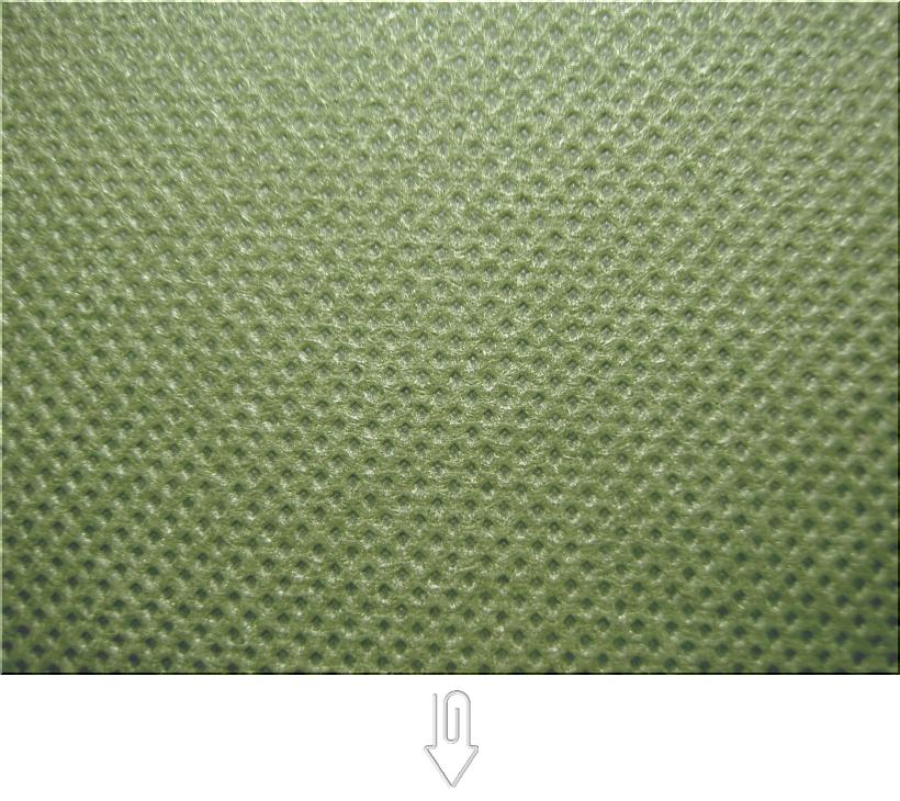 草色の不織布バッグ制作用生地カラー:不織布No.34