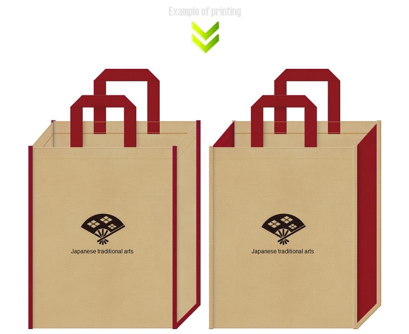 不織布バッグのデザイン:和風柄
