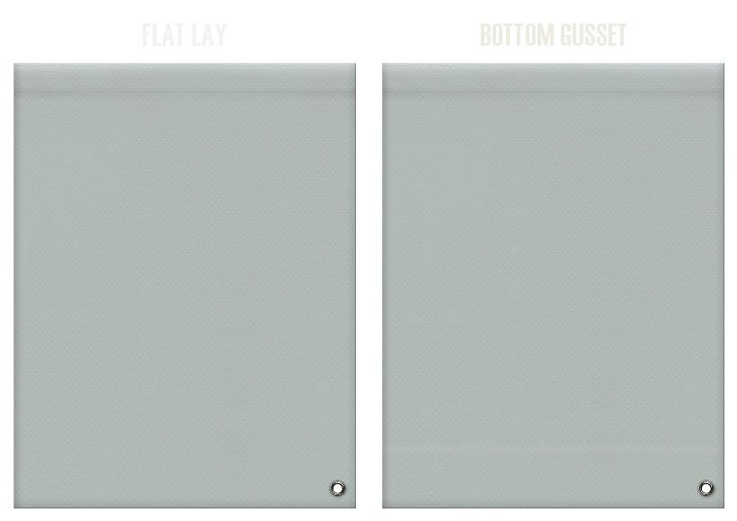 不織布ショルダーバッグのカラーシミュレーション:グレー色