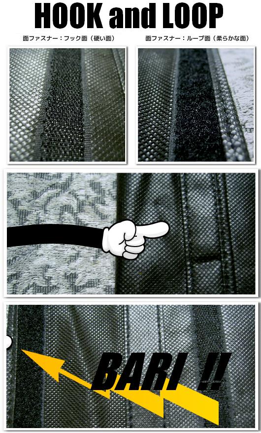 不織布バッグの付嘱パーツ:面ファスナー