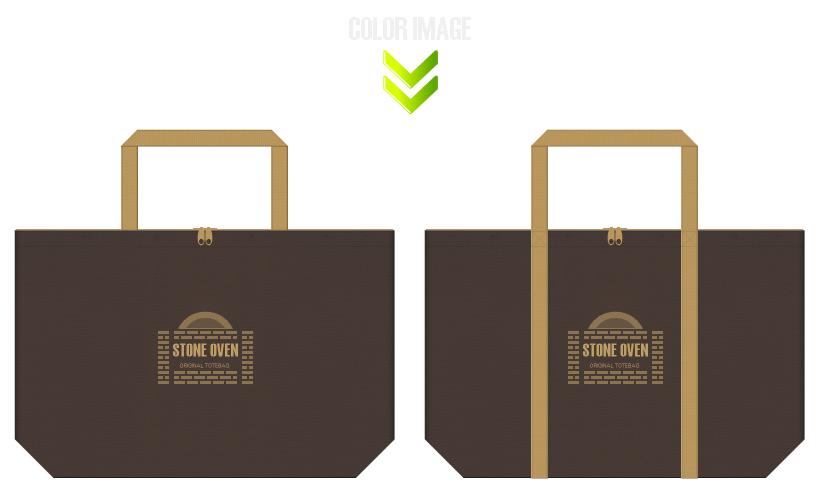 不織布バッグのデザイン:石釜パン・ベーカリーのショッピングバッグ