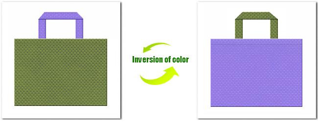 不織布No.34グラスグリーンと不織布No.32ミディアムパープルの組み合わせ