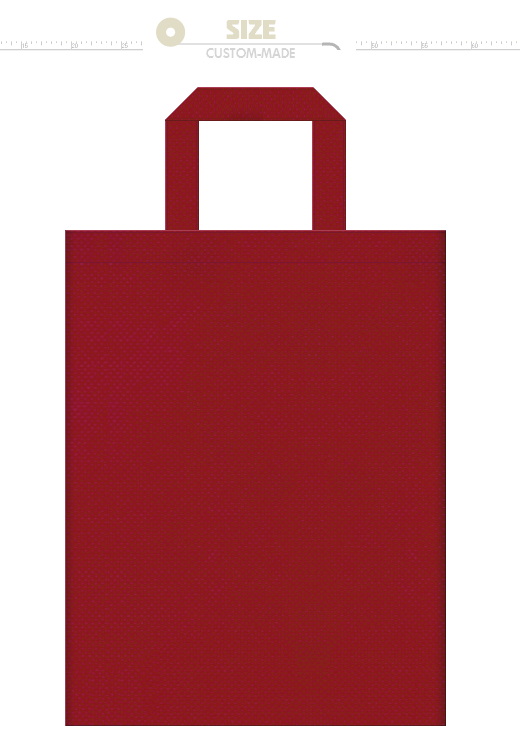 No.25 ローズレッドの不織布トートバッグ