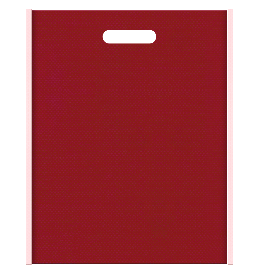 不織布小判抜き袋 メインカラー桜色とサブカラーエンジ色の色反転