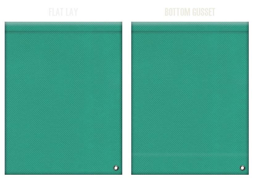 不織布ショルダーバッグのカラーシミュレーション:青緑色