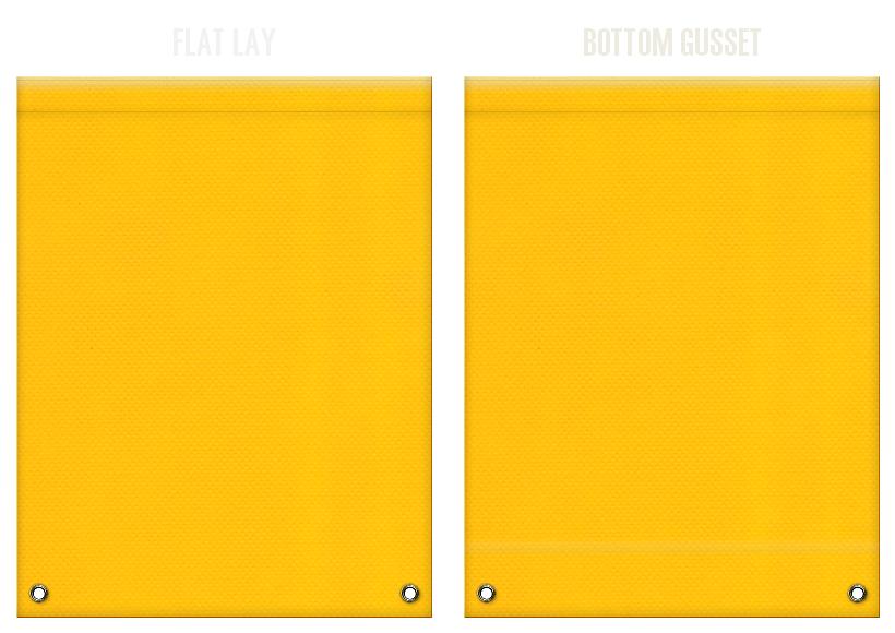 不織布リュックサックのカラーシミュレーション:黄色