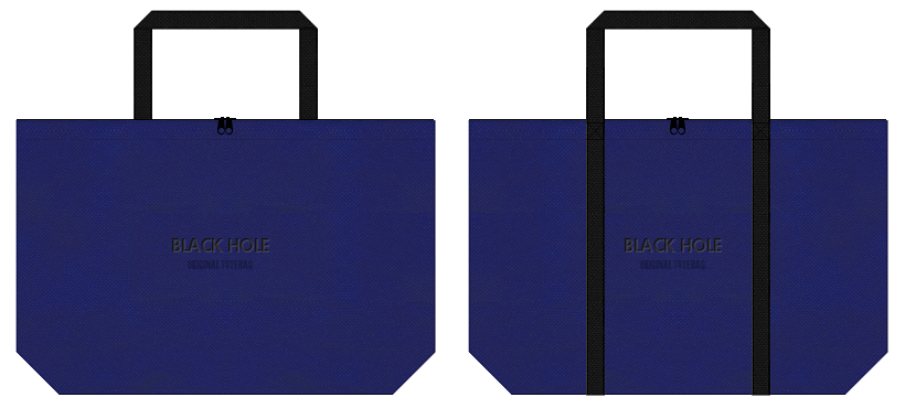 不織布バッグのデザイン:天体観測イベントのノベルティ