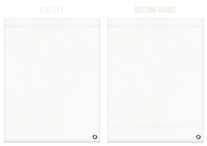 不織布ショルダーバッグのカラーシミュレーション:オフホワイト色