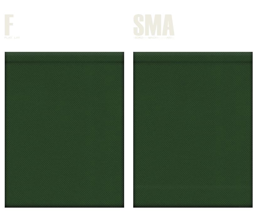 不織布巾着袋のカラーシミュレーション:濃緑色