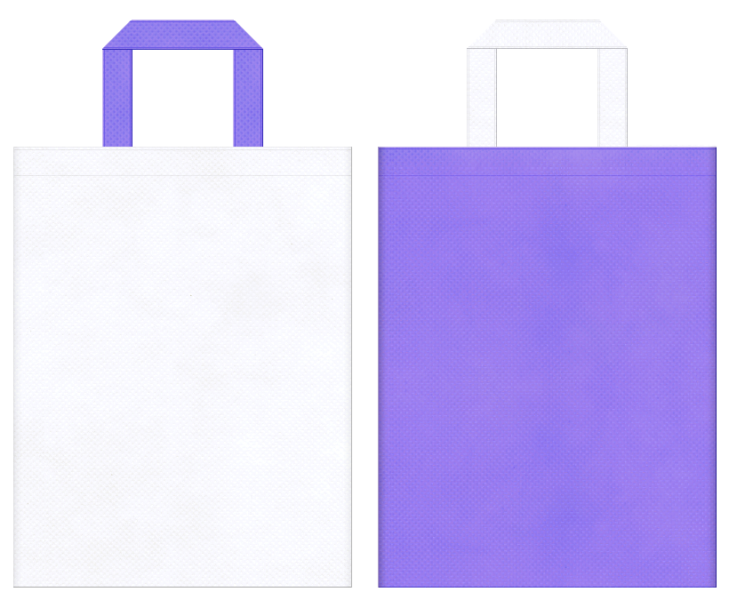 不織布バッグの印刷ロゴ背景レイヤー用デザイン:歯科、医療にお奨めの、白色と薄紫色のコーディネート