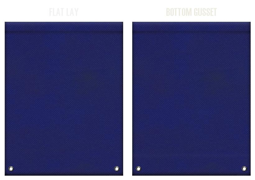 不織布リュックサックのカラーシミュレーション:紺色