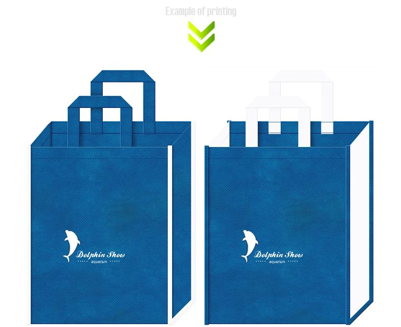 アクアリウムの不織布バッグデザイン例:イルカショー