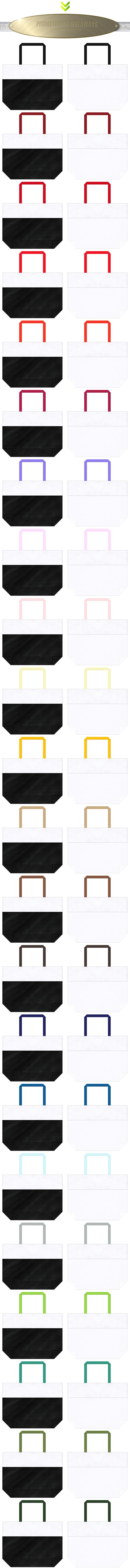 黒色メッシュ・白色メッシュと白色不織布をメインに使用した、台形型メッシュバッグのカラーシミュレーション