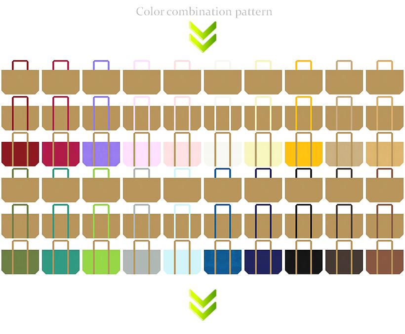 マスタード色の不織布ショッピングバッグカラーシミュレーション:カジュアル・食品・住宅・DIYのショッピングバッグにお奨め