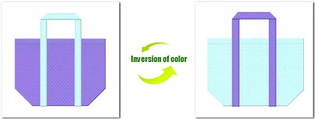 不織布No.32ミディアムパープルと不織布No.30水色の組み合わせのショッピングバッグ