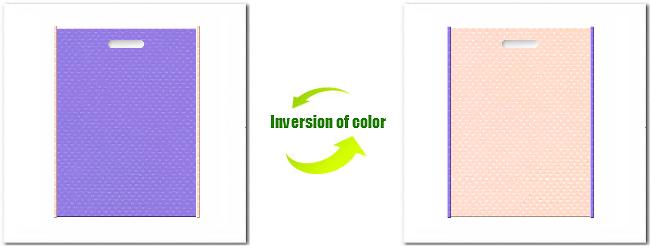 不織布小判抜き袋:No.32ミディアムパープルとNo.26ライトピンクの組み合わせ