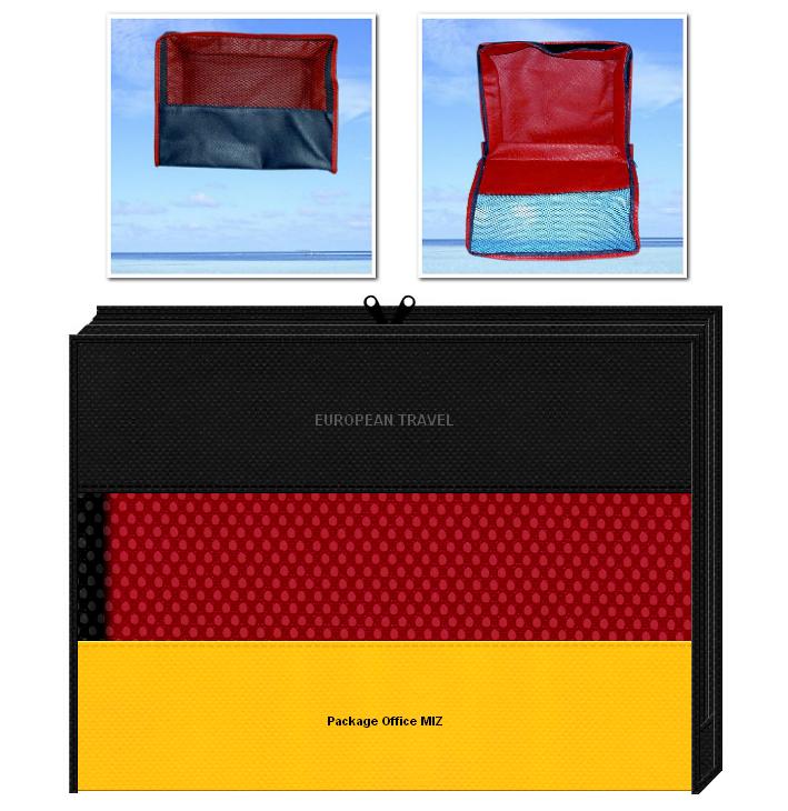 メッシュポーチのオリジナル制作:アメニティポーチ・トラベルバッグのノベルティ・Tシャツ・タオル等のパッケージにお奨めです。