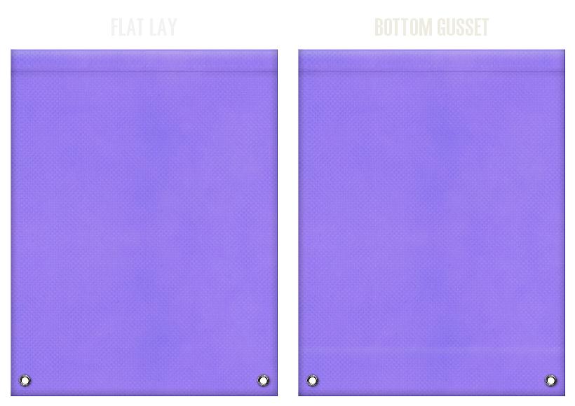 不織布リュックサックのカラーシミュレーション:薄紫色