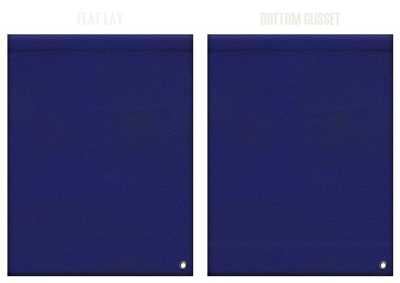 不織布ショルダーバッグのカラーシミュレーション:紺色