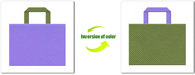 不織布No.32ミディアムパープルと不織布No.34グラスグリーンの組み合わせ