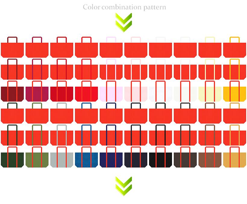 ランチバッグ・スイーツ・野菜・フルーツ・オータムセール・ハロウィン・紅葉名所・スポーツバッグ・おもちゃの福袋・販促ツール・ノベルティにお奨めの不織布バッグデザイン:オレンジ色のコーデ