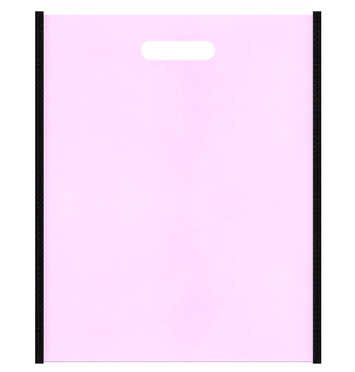 ゴスロリイメージにお奨めの不織布小判抜き袋のデザイン。メインカラー明るめのピンク色とサブカラー黒色