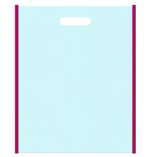 浴衣・和風柄にお奨めの不織布バッグの配色です。メインカラー水色とサブカラー濃いピンク色