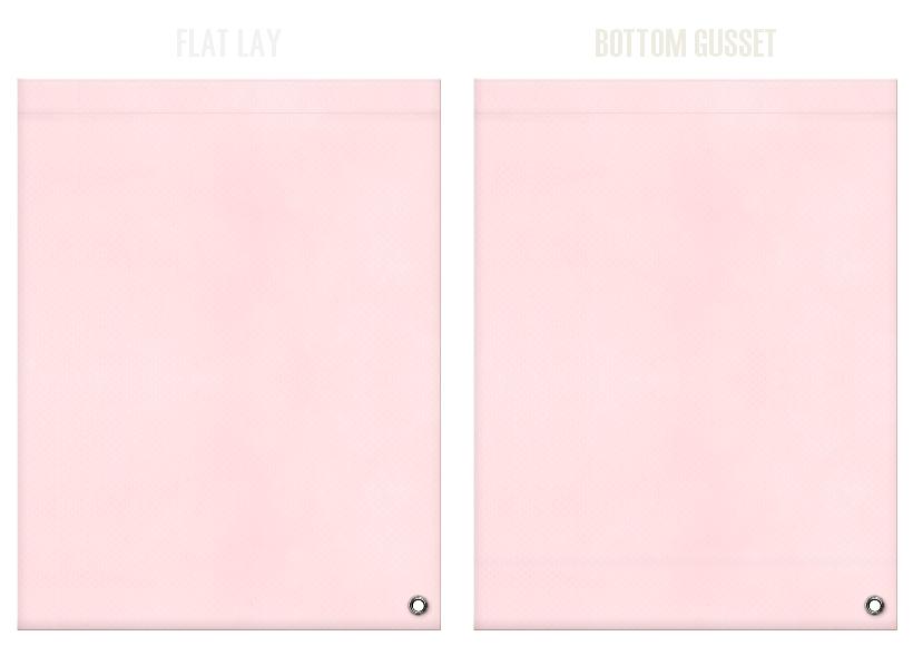 不織布ショルダーバッグのカラーシミュレーション:桜色