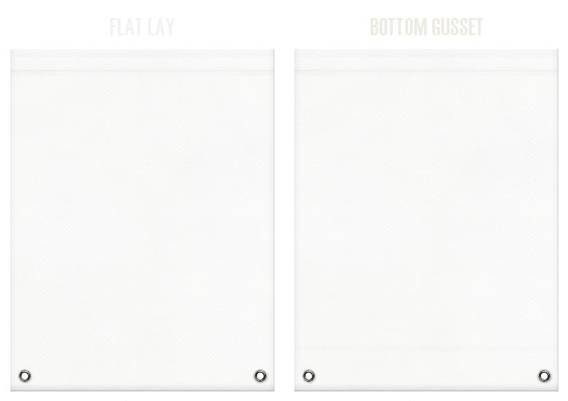 不織布リュックサックのカラーシミュレーション:オフホワイト色