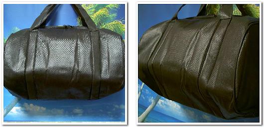 黒一色で統一した不織布ドラムバッグ