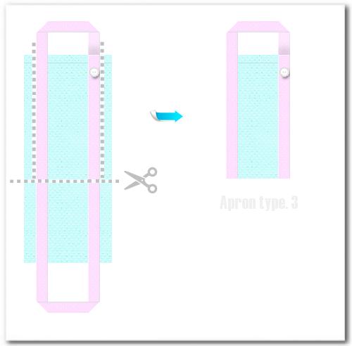 不織布バッグ再利用例 エプロン3