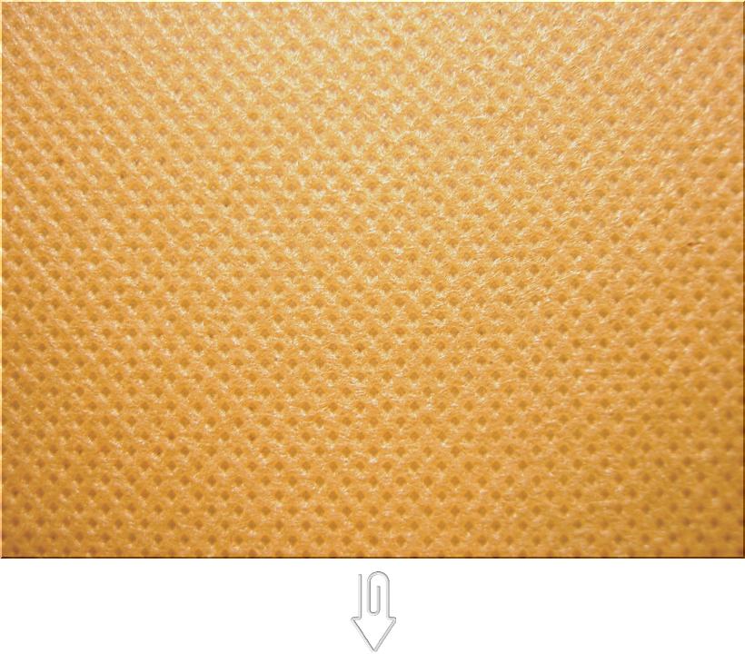 黄土色の不織布