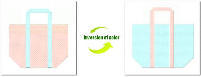 不織布No.26ライトピンクと不織布No.30水色の組み合わせのショッピングバッグ