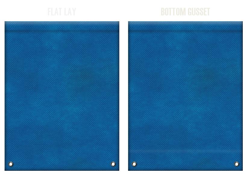 不織布リュックサックのカラーシミュレーション:青色