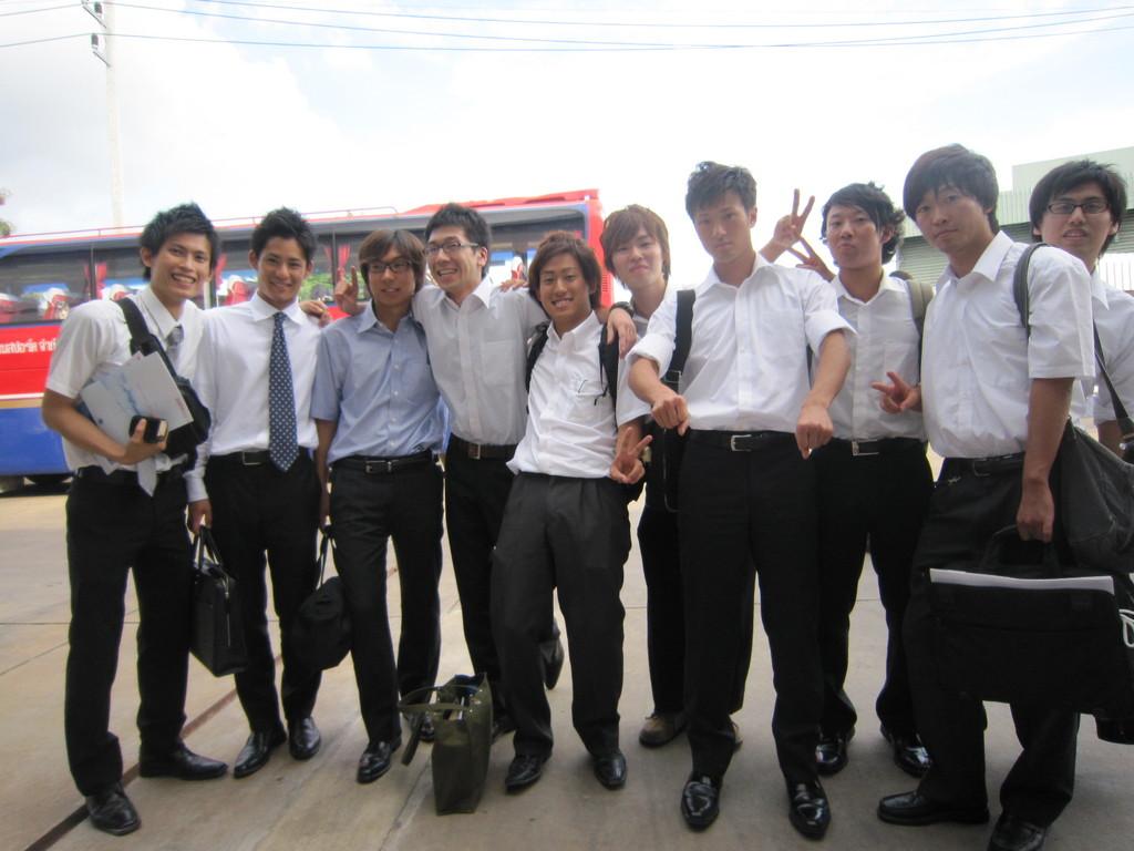 研修中に仲良くなった関西学院の人たち 男子編