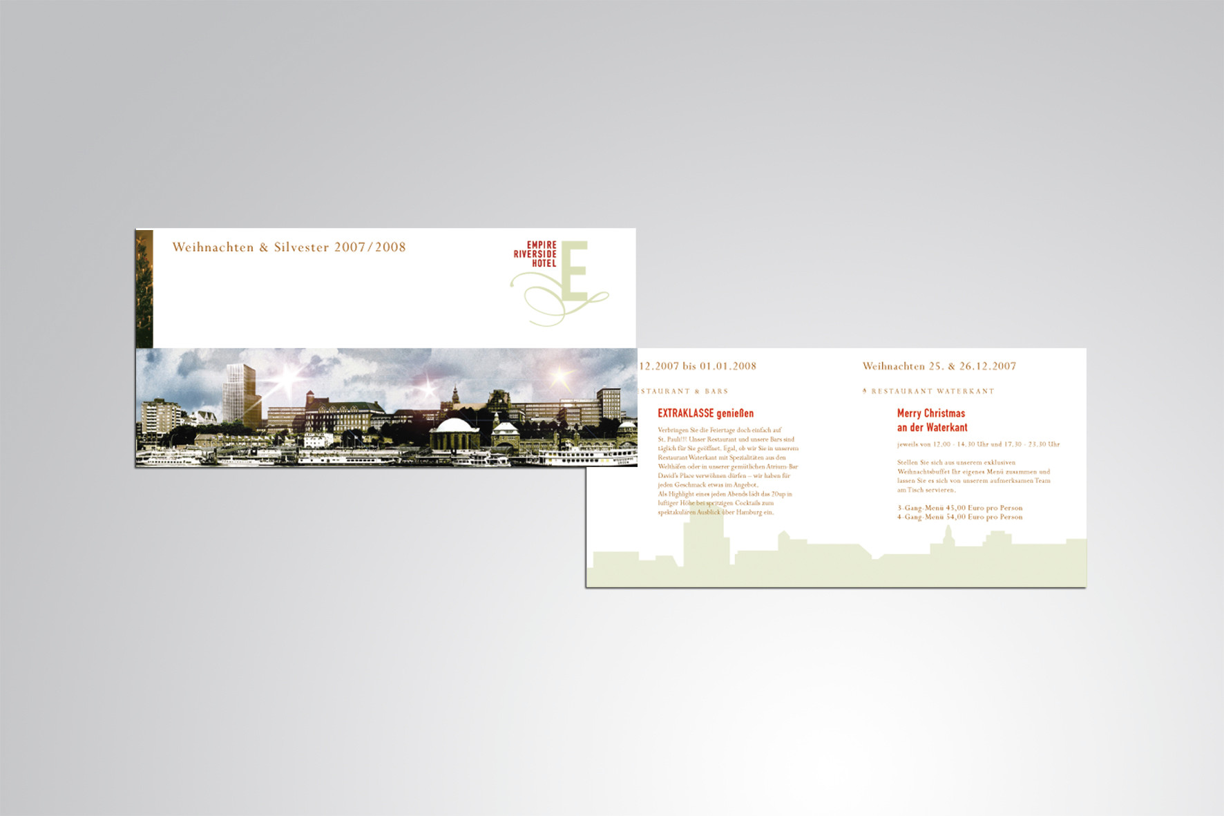 Kunde: EMPIRE RIVERSIDE HOTEL · Flyer und Newsletter