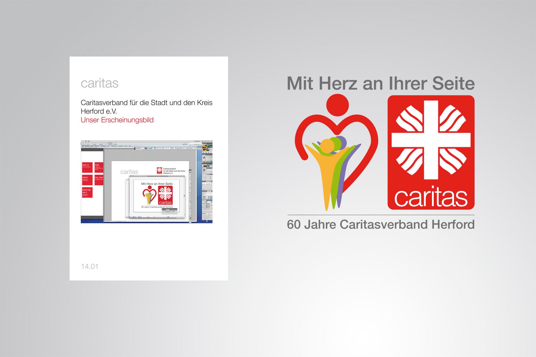 Kunde: Caritasverband Herford · Produkt: Logoentwicklung und Corporate Design